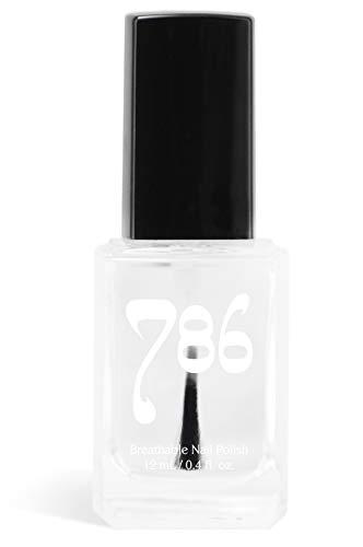 786 Cosmetics Breathable Nail Polish - Vegan Nail Polish, Cruelty-Free, Healthy, Halal Nail Polish, Fast-Drying Nail Polish (Top Coat Clear)