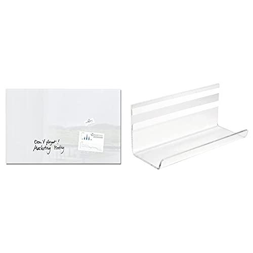 Sigel GL141 Pizarra de cristal magnética, 100 x 65 cm, super blanco...