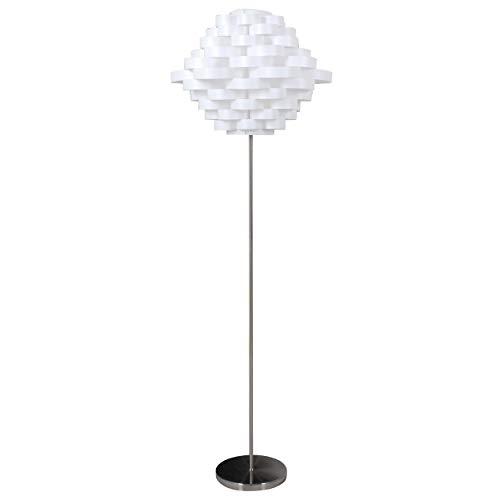 Unbekannt Lámpara de pie, 40W, Color: Blanco, Soporte: níquel (99292067023)