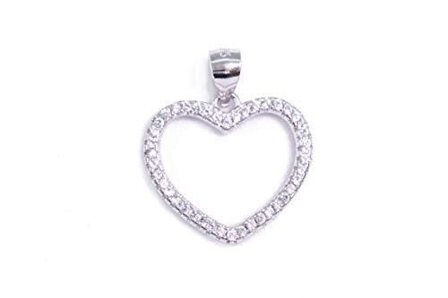 MAGICMOON - Mod. VTP10000296 - Romantico ciondolo cuore argento 925 rodiato impreziosito da zirconi bianco brillante