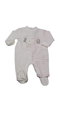 PASTELLO Pelele canastilla de bebé de chenilla con pies para niña (TC2Z...