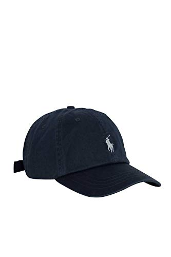 POLO RALPH LAUREN Men - Grey ribbed twill cotton baseball cap