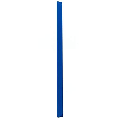 LEO's - 100 x Klemmschienen Blau DIN A4 (297 mm) FH 3-4 mm für ca. 30 Blatt - Klemmschiene zum Binden von ungelochten Papier Unterlagen und Blattsammlungen - Klemmleiste aus Hart-PVC