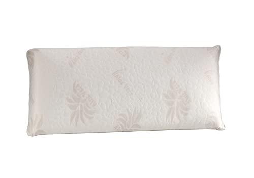 Dormio - Almohada viscoelástica con perfecta adaptabilidad al cuello, Tejido Aloe Vera, Termorregulable, Blanco, 105 cm