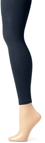 EMEM Apparel Girls' Kids Childerns Solid Colored Dance Ballet Custume Opaque Footless Tights Leggings Stocking Navy 7-10