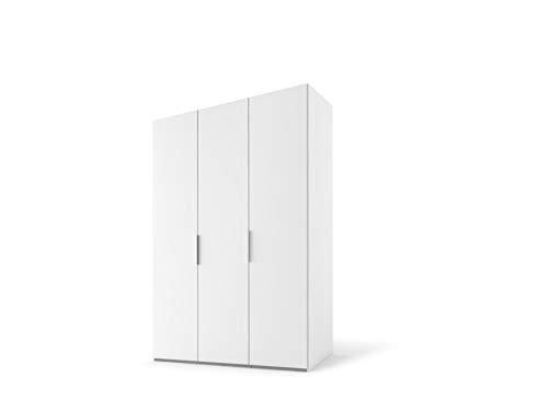 Express Möbel Swift Drehtürenschrank, Holzwerkstoff/Metallbeschläge, Polarweß/Polarweiß, Breite 150 cm