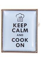 DLC Keep Calm and Cook on Manschettenknöpfe Blau