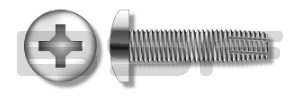 6-32X1 1 4 Phillips Pan Thread Screw Fully Special price Type F Large discharge sale Cutting