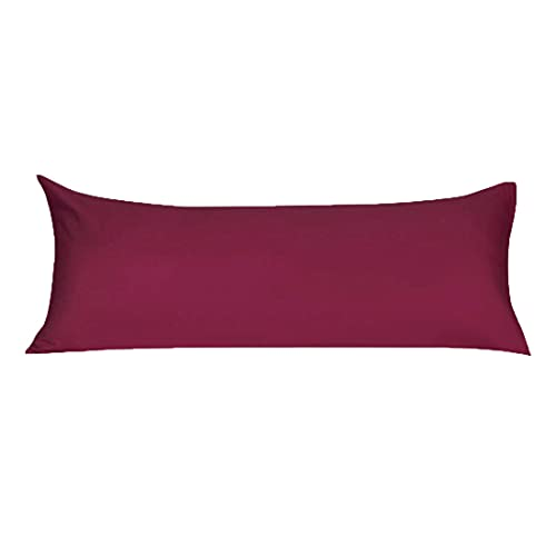 """uxcell Soft Microfiber Body Pillow Cover with Zipper Closure, Long Pillow Cases for Body Pillows Wine Body (20""""x48"""")"""