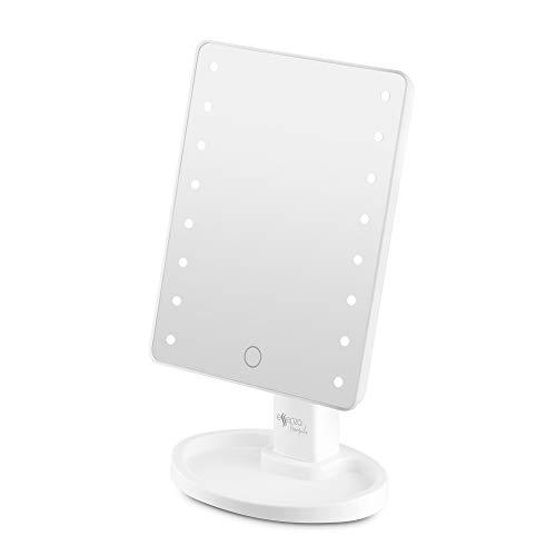Espelho de Mesa com Led, 180º, Brilho Ajustável - Essenza