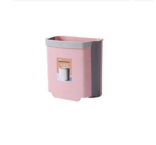 XOTF Küchenmülleimer, Hängender Haushaltsklappmülleimer, An Der Wand Montierter Sortiermüllkorb, Toiletten-Toilettenwagen(Color:EIN)
