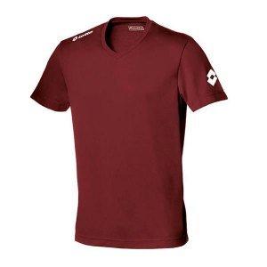 Lotto Kurzarm-Shirt Jersey Team EVO Camiseta, Hombre, Rojo (Granata), M