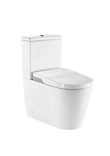Roca A803061001 - In-wash - smart toilet adosado a pared con salida dual. incluye cisterna, tapa y asiento. necesita toma de red.