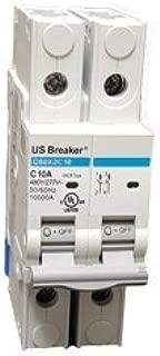US Breaker 2P 6A UL489 DIN Rail Circuit Breaker 10KA @ 480/277V