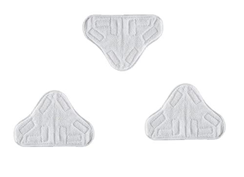 3 Pezzi Sostituzione Dei Cuscinetti per Scopa a Vapore in Microfibra di Ricambio,Panno Microfibra Triangolare Scopa a Vapore,Lavapavimenti Steam Mop