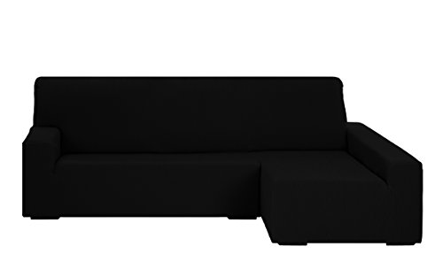Martina Home Funda para sofa Chaise Longue modelo Emilia - Brazo derecho, color Negro