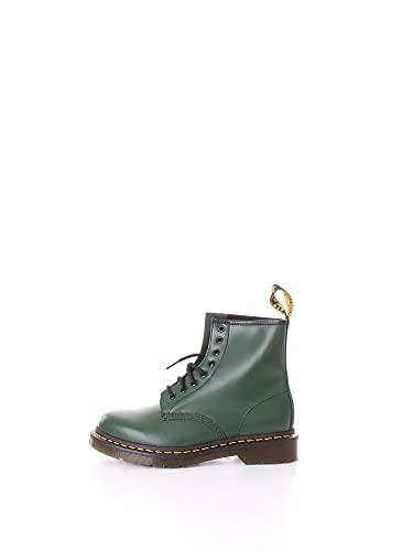Dr. Martens, Unisex 1460 8 Eye Boot, Green Smooth, 8 US Women/7 US Men