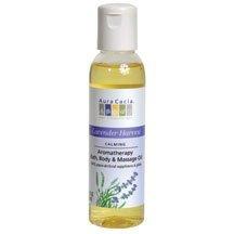 Massag/Bath Oil, Lvnd Hrvs, 4 oz ( Multi-Pack) by AURA CACIA