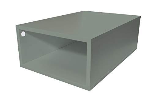 ABC MEUBLES - Cube de Rangement 75x50 cm Bois - CUBE75 - Gris