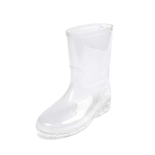 DKSUKO Damen Gummistiefel Gummistiefelette Shorty Stiefel Kurzschaft Regenstiefel Regen Boots wasserdichte Gartenschuhe EU 35-42 (25 EU, Transparent)
