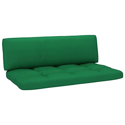 Tidyard Cojines para sofá de palets Cojin para palés Confort - Cojin de Asiento o Respaldo para sofás palets 2 Piezas Verde