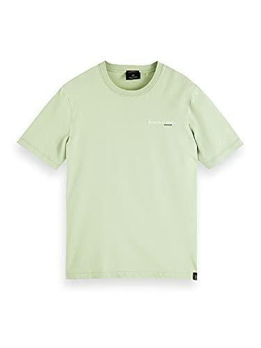Scotch & Soda Organic Cotton Jersey tee Camiseta, Seafoam 0514, XL para Hombre