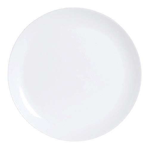 Luminarc Diwali Flache Teller aus Opalglas, extra robust, 25 cm, Weiß, 6 Stück