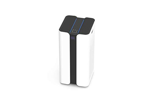 NERIOX CLEAN-AIR - Mobiler Antiviraler Luftreiniger mit HEPA H14 Filter und UV-C Desinfektion - entfernt 99,995 % der Partikel & mit Viren belastete Aerosole aus der Luft - Geeignet bis 100 m²