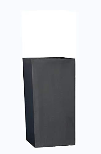 Pflanzkübel der GARTENSCHAU Baden-WÜRTT. L38x B38x H70cm aus Fiberglas in schwarz-anthrazit, Blumenkübel, Pflanztopf
