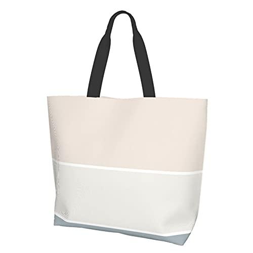 Tote Bag Shoulder Bag Handbag Elegant Beige Green Color Harmony Trendy Chic...