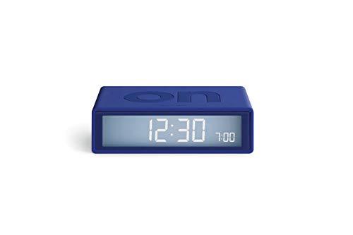 Lexon Flip Plus Travel Reversible LCD Alarm Clock Radio Controlled - Blue