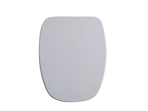GALA G5134001 Tapa y Asiento Fijo para Inodoro Colección Diana, Acabado Blanco (Ref 51340), Urea, 37.5 x 4.8 x 43.4 cm