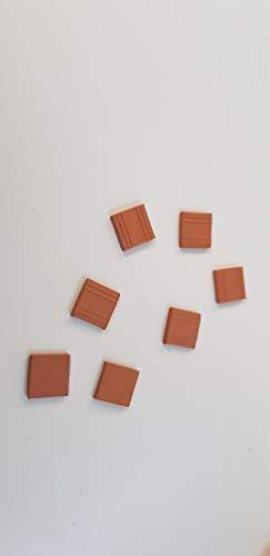 Bricks Ref. 02080 BALDOSA Dimensions mm 15x15x3 Pieces 150 Domus Kits, ZIEGEL,MATTONCINI,Brique,LADRILLO