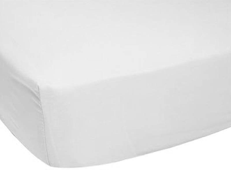 Luvable Friends Fitted Portable Crib Sheet White