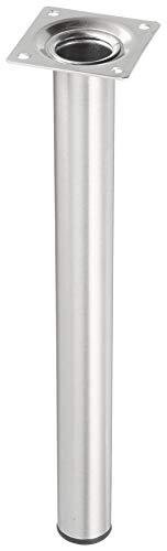 Elementsystem Stahlrohrfuß rund Ø30 mm Höhe 300 mm Edelstahloptik 11100-00173, 1 Stück
