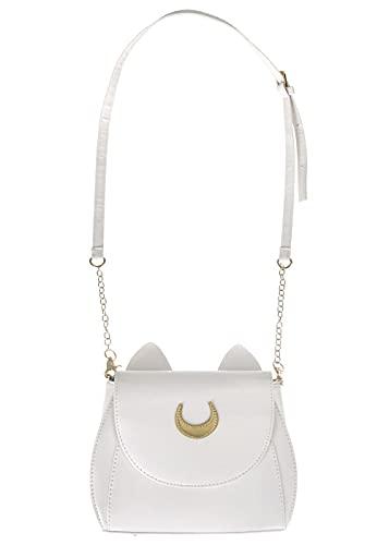 CoolChange Artemis Handtasche mit Katzenohren für Sailor Moon Fans   Farbe: Weiß