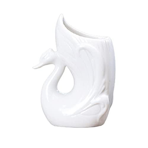 BestSiller Maceta creativa, maceta con forma de cisne de ganso, maceta hidropónica para decoración de escritorio en el hogar