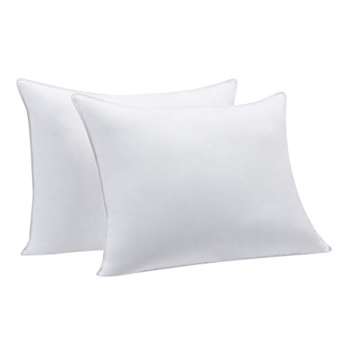 Amazon Basics Down-Alternative Pillows for Sleeping - 2-Pack, Firm, Standard