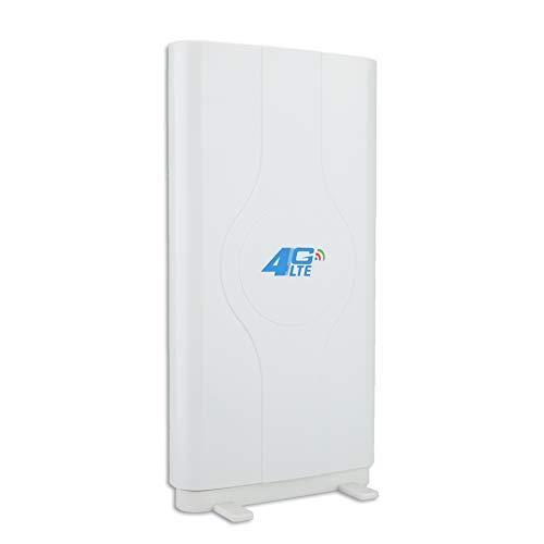 ASHATA Placa Pared Antena, Placa Antena TV, Antena WiFi para Placa Base, Antena WiFi Placa Base, Blazing Fast Indoor 4G LTE, Antena de Placa de Alta Ganancia 800 MHz a 2600 MHz(SMA)