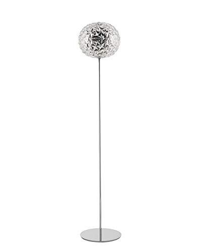 Kartell Planet Lampada da Terra, H. 160 cm, Dimmerabile, Trasparente(Cristallo)