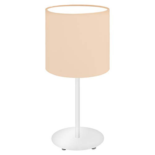 EGLO PASTERI-P tafellamp, staal, 60 W, wit