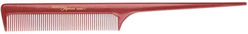 Hercules Sägemann HS C17 Carbon 17 Peigne à manche professionnel Rouge (antistatique) Peigne en carbone à dents uniformes, peigne de 8,25\