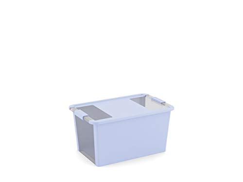 Kis Bi Box M 55 x 35 x 19 h, Blueberry/transparent, 58 x 35.2 x 43.5