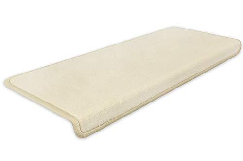 Kettelservice-Metzker® Stufenmatten Vorwerk Uni Einzeln und Sparset's Hellbeige 12 Stück Rechteckig