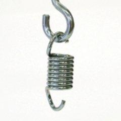 BAY Stahl Feder Flex EXTRA KURZ 11 cm - zum Aufhängen von Boxsäcken Aufhängung Boxsackfeder Sandsackfeder Sandsack Boxsack Sandsackzubehör