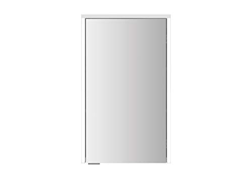 Sieper Spiegelschrank Gabun 2L MDF/Holz in der Farbe Weiss mit Beleuchtung