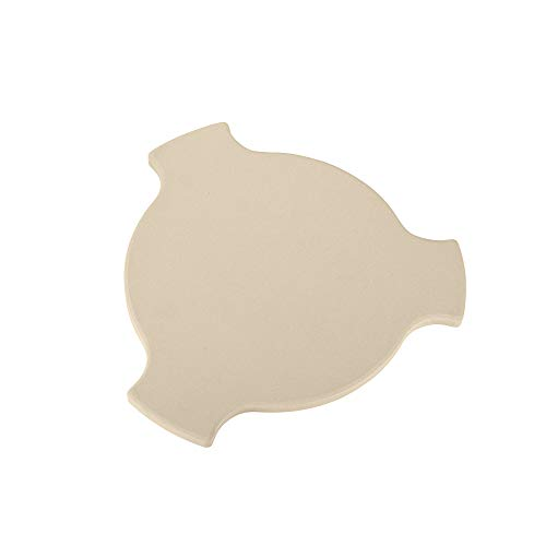 """Unicook Heat Deflector Stone 17"""", Heavy Duty Ceramic Pizza Stone, Heat Diffuser Plate, Smoking Stone, Compatible for Char-Griller 6201, Fits 20"""" AKORN Kamado Grill, Large Big Green Egg and More"""