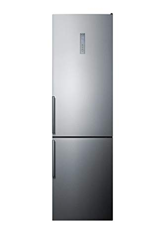 Summit Appliance FFBF192SS 24' Wide Bottom Freezer Refrigerator, 12.5 cu. ft Capacity, Frost-free Operation, Digital Temperature Control, LED Lighting, Adjustable Glass Shelves, Super Cool Function