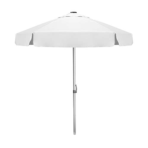 STROMBERGBRAND UMBRELLAS Wind Vent Bistro Large Patio Umbrella Patented Commercial Quality Outdoor Tilt Function for Beach, Café, Garden, Backyard, Market, Pool, (Base not Included), White, One Size…
