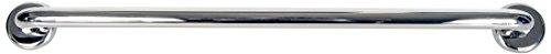 Timblau TIM-523080/B - Barra de Apoyo Mural Fija para Discapacitados, Acero Inoxidable, Acabado Brillante, 800 mm